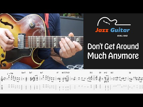 Don't Get Around Much Anymore - Jazz Guitar Lesson