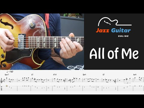 All Of Me Jazz Guitar Lesson - Melody and Solo