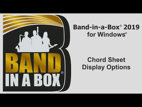 Band-in-a-Box® for Windows: Chord Sheet Display Options