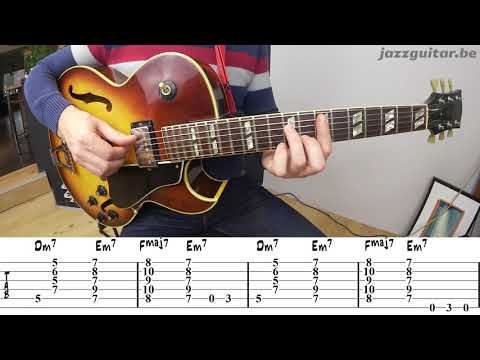 Minor Blues Jazz Guitar Vamp in the Style of Kenny Burrell