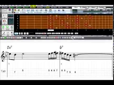 Making Notation for Guitar in Band-in-a-Box