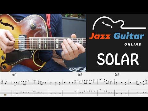 Solar (Miles Davis) Jazz Guitar Lesson - Melody & Solo