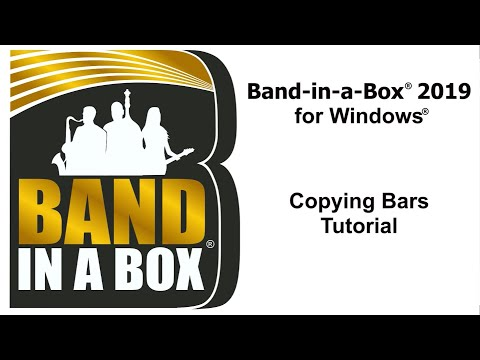 Band-in-a-Box® for Windows: Copying Bars