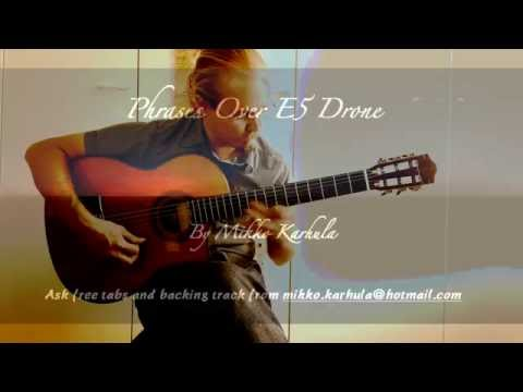 Guitar Phrases Over E5 Drone