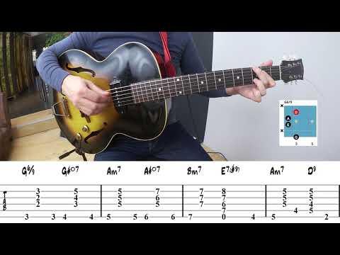 Jazz Guitar Chord Progression Exercise