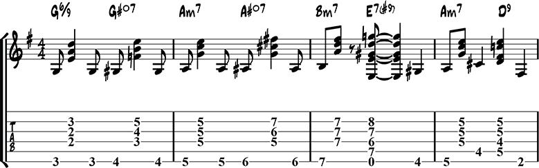 Jazz Guitar Chord Exercise 2