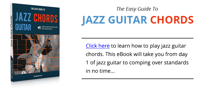Take The A Train Jazz Guitar Chord Study Tabs Audio Backing Track