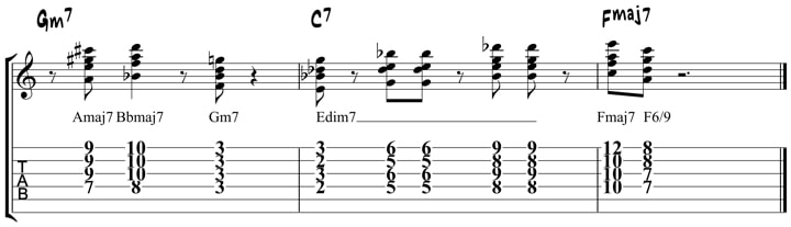 Wes Montgomery Chord Licks 2