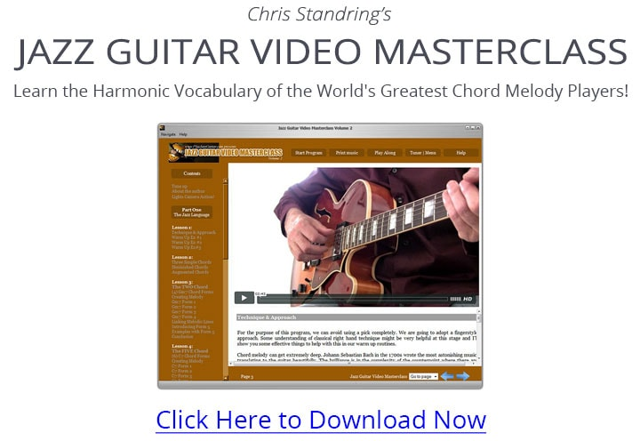 Jazz Guitar Video Masterclass