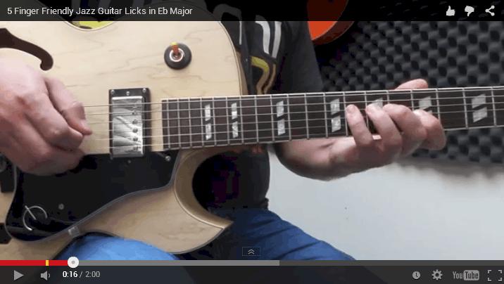 Major jazz guitar licks video