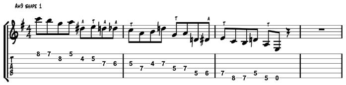 Am9 Target Tones