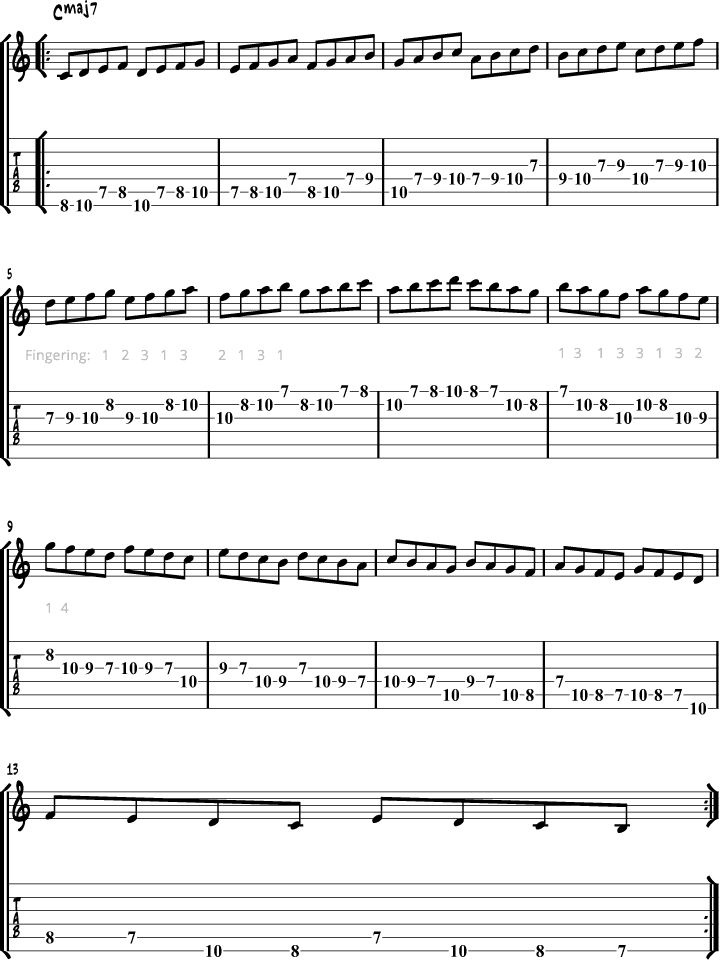 Jazz Guitar Scale Pattern 3