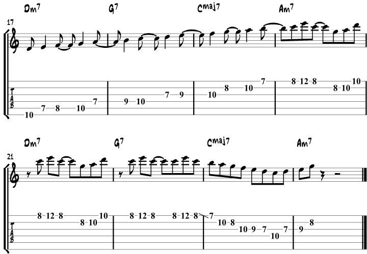 Jazz Guitar Scales Example 6b
