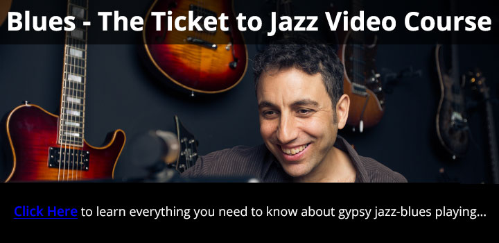 Gypsy jazz blues guitar video course