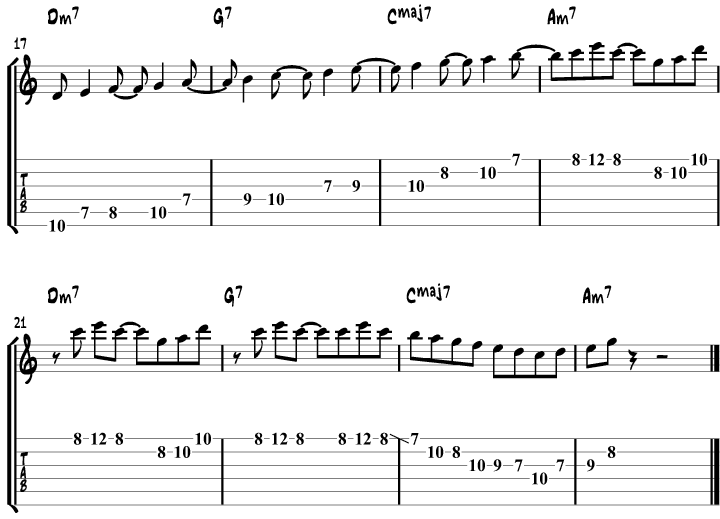 Guitar modes over a chord progression page 2