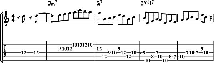 Miles Davis II V I lick