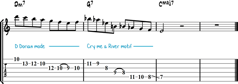 Jazz guitar lick 1