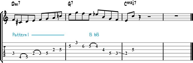 Jazz guitar lick 11