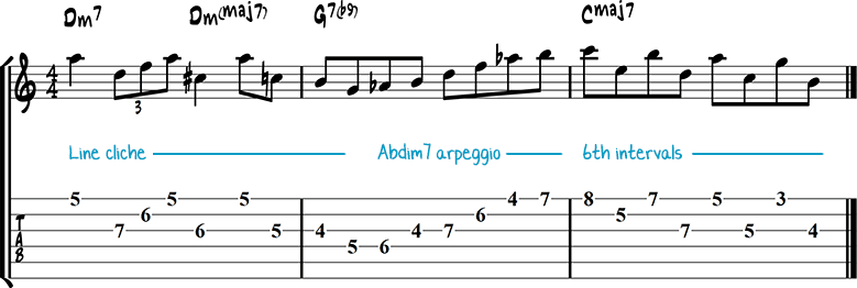 Jazz guitar lick 12