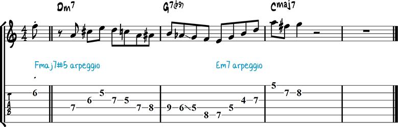 Jazz guitar lick 13