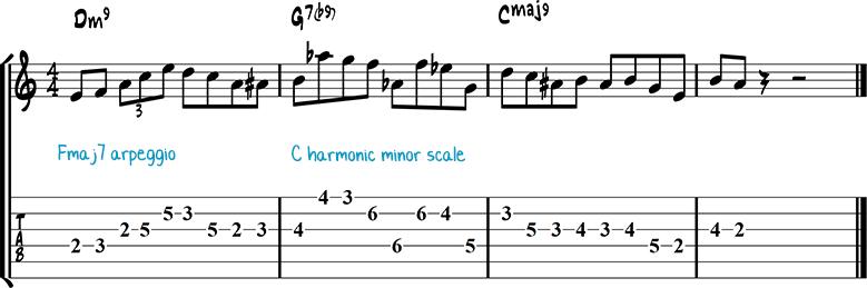 Jazz guitar lick 16