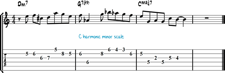 Jazz guitar lick 17