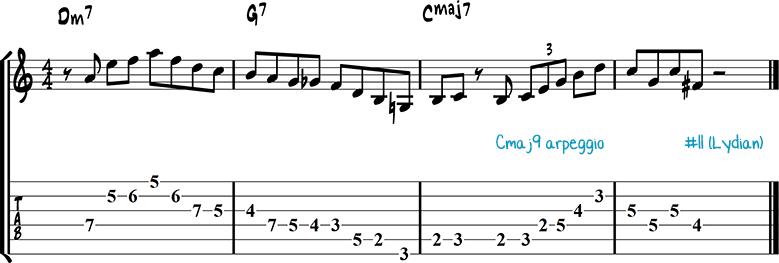 Jazz guitar lick 19