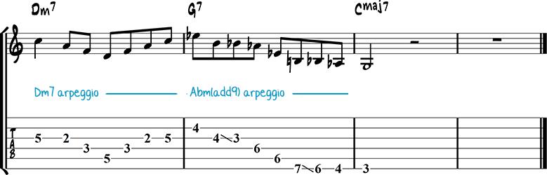 Jazz guitar lick 2