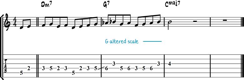Jazz guitar lick 20