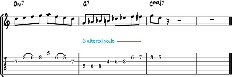 Jazz guitar lick 21