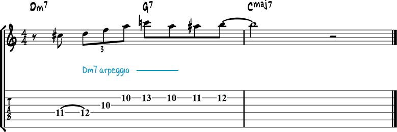 Jazz guitar lick 25