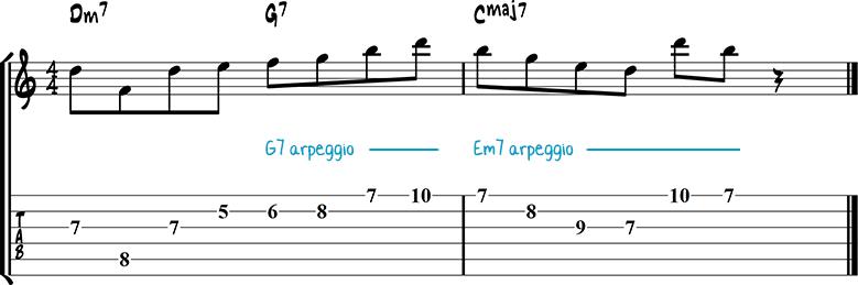 Jazz guitar lick 26