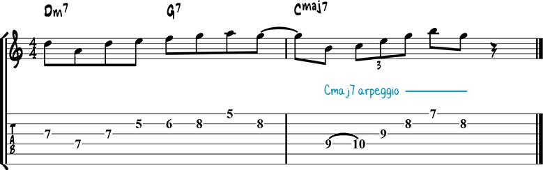 Jazz guitar lick 27