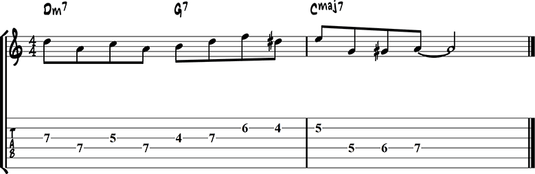 Jazz guitar lick 29