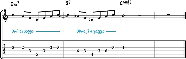 Jazz guitar lick 3
