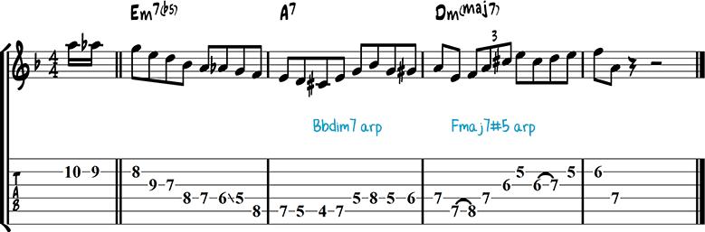 Jazz guitar lick 30