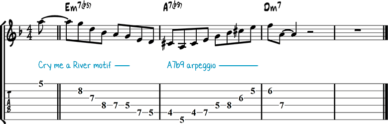 Jazz guitar lick 33