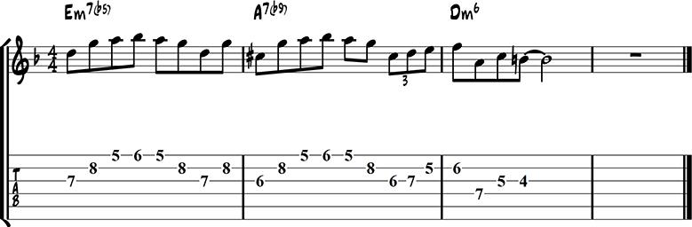 Jazz guitar lick 34