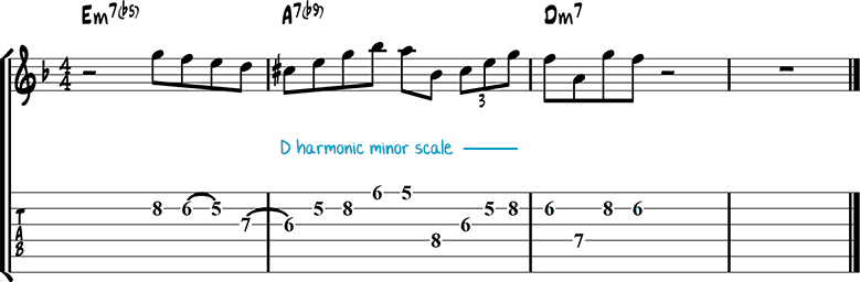 Jazz guitar lick 35