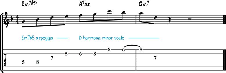 Jazz guitar lick 36