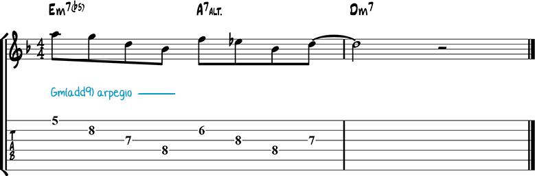 Jazz guitar lick 37