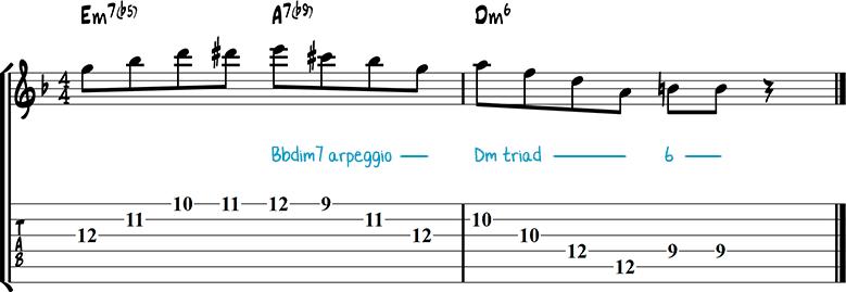 Jazz guitar lick 38
