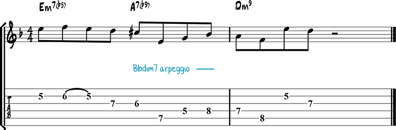 Jazz guitar lick 39