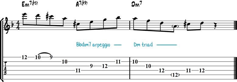 Jazz guitar lick 40