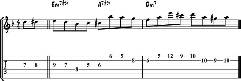 Jazz guitar lick 41