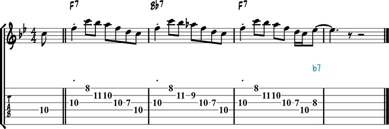 Jazz guitar lick 42