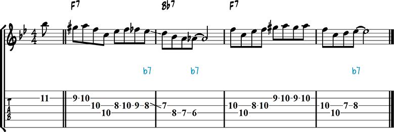 Jazz guitar lick 43