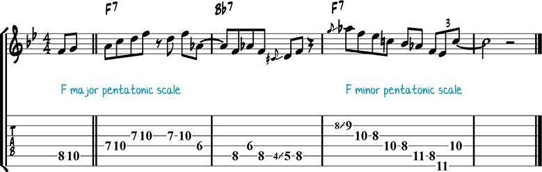 Jazz guitar lick 45