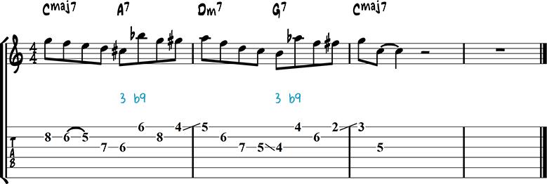 Jazz guitar lick 48