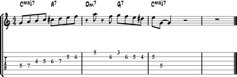 Jazz guitar lick 49